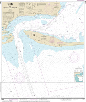 NOAA Nautical Chart 11384: Pensacola Bay Entrance