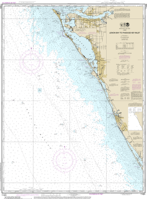 NOAA Nautical Chart 11424: Lemon Bay to Passage Key Inlet