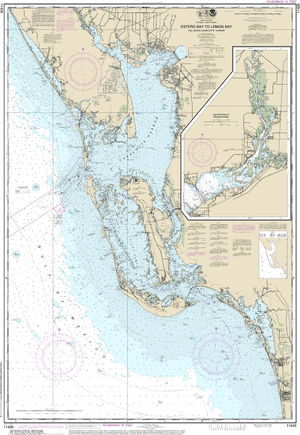 NOAA Nautical Chart 11426: Estero Bay to Lemon Bay, including Charlotte Harbor;Continuation of Peace River
