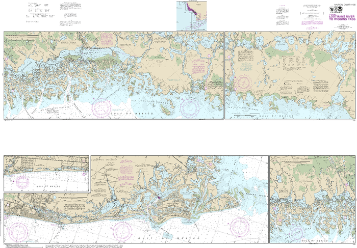 NOAA Nautical Chart 11430: Lostmans River to Wiggins Pass