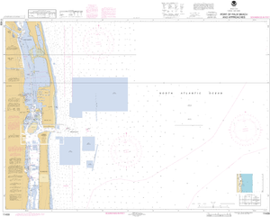 NOAA Nautical Chart 11459: Port of Palm Beach and Approaches