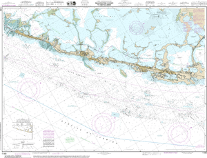 NOAA Nautical Chart 11464: Intracoastal Waterway Blackwater Sound To Matecumbe