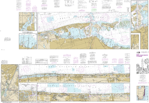 NOAA Nautical Chart 11467: Intracoastal Waterway West Palm Beach to Miami