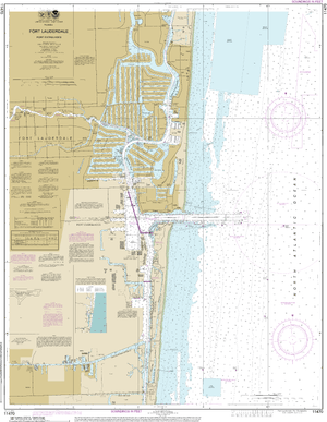 NOAA Nautical Chart 11470: Fort Lauderdale Port Everglades