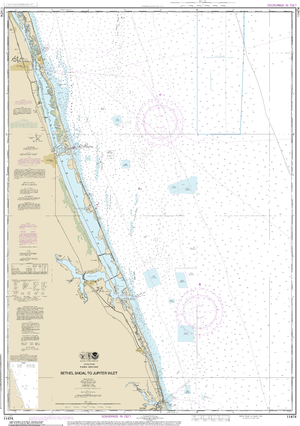 NOAA Nautical Chart 11474: Bethel Shoal to Jupiter Inlet