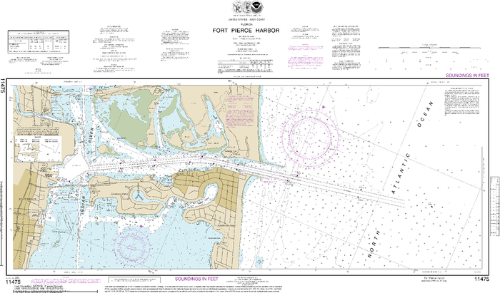NOAA Nautical Chart 11475: Fort Pierce Harbor