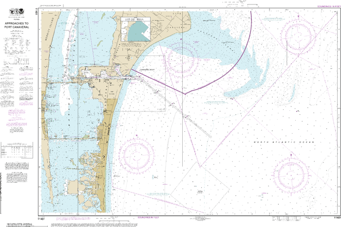 NOAA Nautical Chart 11481: Approaches to Port Canaveral