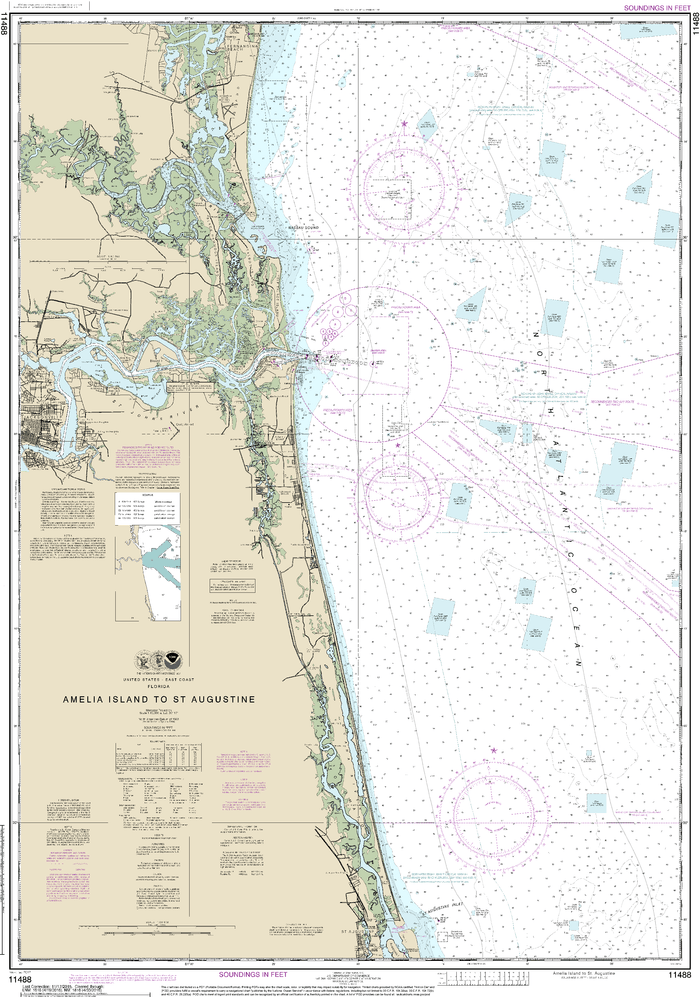 NOAA Nautical Chart 11488: Amelia Island to St. Augustine