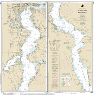 NOAA Nautical Chart 11492: St. John's River Jacksonville to Racy Point