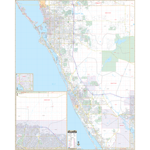 Sarasota Co, Fl Wall Map - Large Laminated