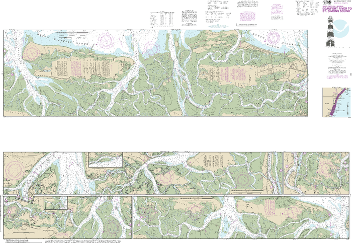 NOAA Nautical Chart 11507: Intracoastal Waterway Beaufort River to St. Simons Sound