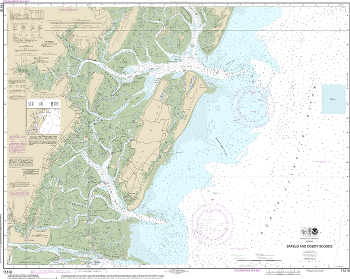 NOAA Nautical Chart 11510: Sapelo and Doboy Sounds