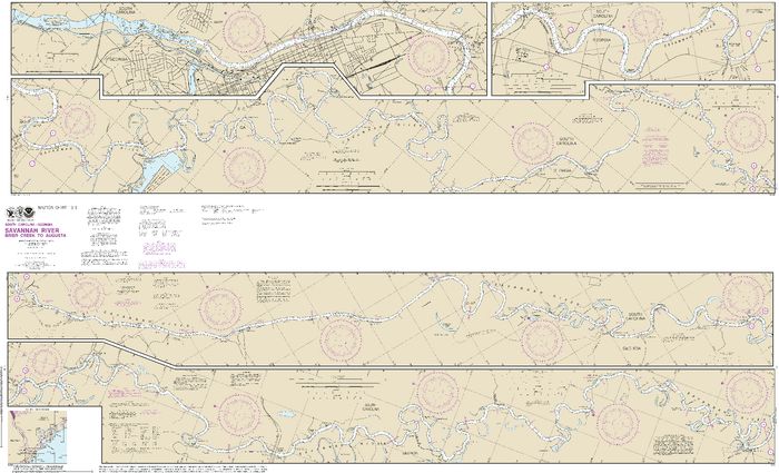 NOAA Nautical Chart 11515: Savannah River Brier Creek to Augusta
