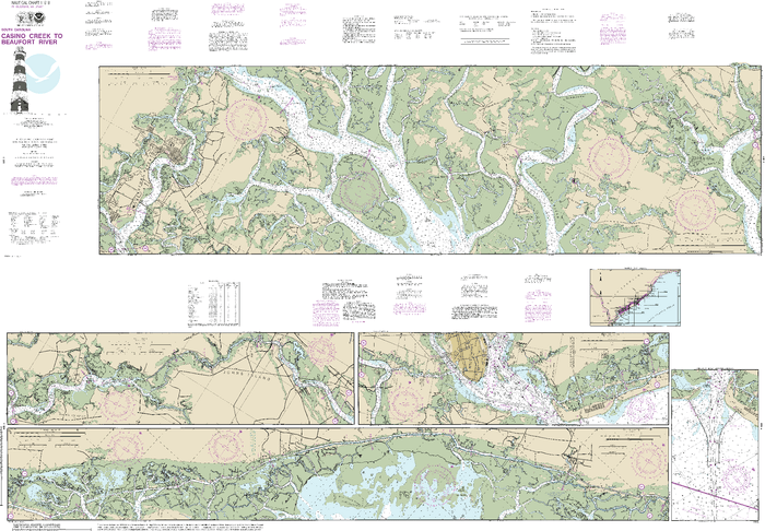 NOAA Nautical Chart 11518: Intracoastal Waterway Casino Creek to Beaufort River