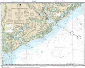 NOAA Nautical Chart 11521: Charleston Harbor and Approaches