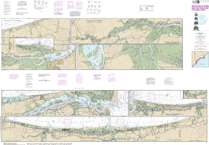 NOAA Nautical Chart 11534: Intracoastal Waterway Myrtle Grove Sound and Cape Fear River to Casino Creek