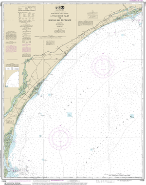NOAA Nautical Chart 11535: Little River lnlet to Winyah Bay Entrance