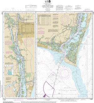 NOAA Nautical Chart 11537: Cape Fear River Cape Fear to Wilmington