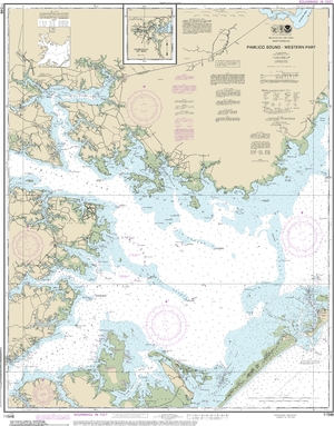 NOAA Nautical Chart 11548: Pamlico Sound Western Part