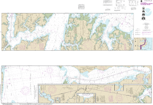 NOAA Nautical Chart 11553: Intracoastal Waterway Albermarle Sound to Neuse River;Alligator River;Second Creek