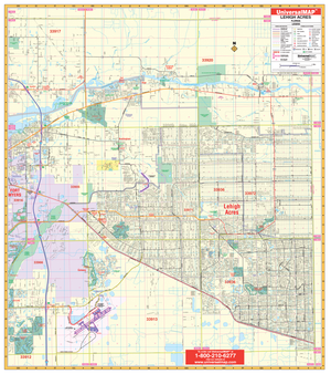 Lehigh Acres, Fl Wall Map - Large Laminated