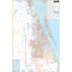 Brevard County South, Fl Wall Map - Large Laminated