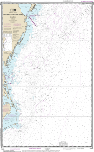 NOAA Nautical Chart 12200: Cape May to Cape Hatteras