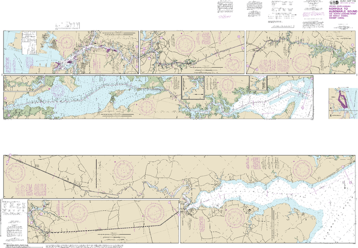 NOAA Nautical Chart 12206: Intracoastal Waterway Norfolk to Albemarle Sound via North Landing River or Dismal Swamp Canal