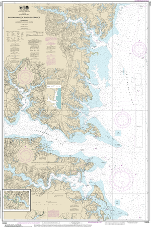 NOAA Nautical Chart 12235: Chesapeake Bay Rappahannock River Entrance, Piankatank and Great Wicomico Rivers