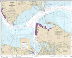 NOAA Nautical Chart 12245: Hampton Roads