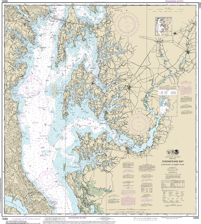 NOAA Nautical Chart 12263: Chesapeake Bay Cove Point to Sandy Point