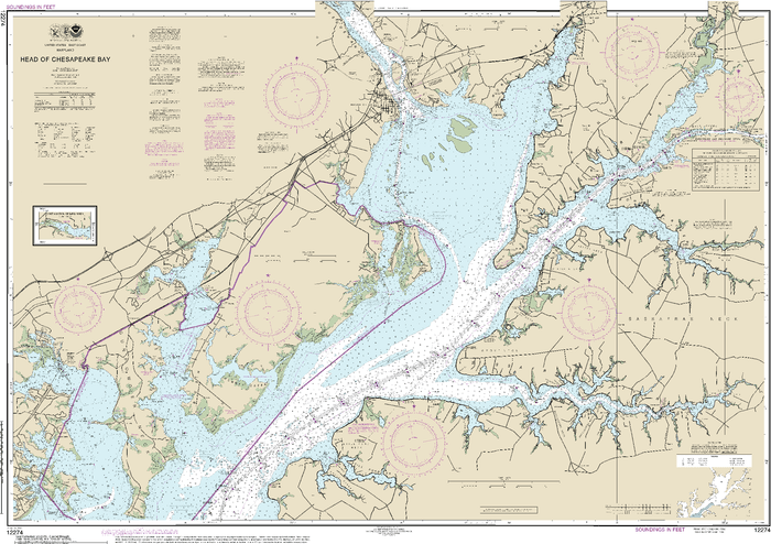 NOAA Nautical Chart 12274: Head of Chesapeake Bay