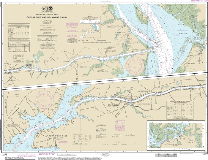NOAA Nautical Chart 12277: Chesapeake and Delaware Canal