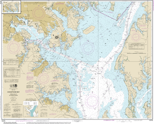 NOAA Nautical Chart 12278: Chesapeake Bay Approaches to Baltimore Harbor