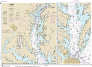 NOAA Nautical Chart 12280: Chesapeake Bay