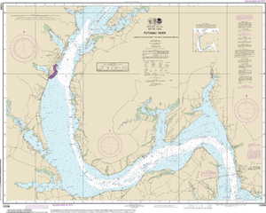 NOAA Nautical Chart 12288: Potomac River Lower Cedar Point to Mattawoman Creek