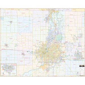 Rockford, Il Wall Map - Large Laminated