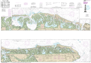 NOAA Nautical Chart 12316: Intracoastal Waterway Little Egg Harbor to Cape May;Atlantic City