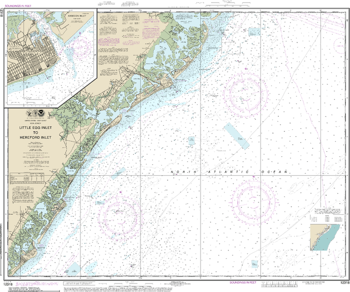 NOAA Nautical Chart 12318: Little Egg Inlet to Hereford Inlet;Absecon Inlet