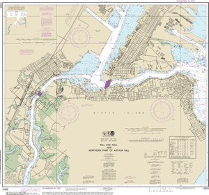 NOAA Nautical Chart 12333: Kill Van Kull and Northern Part of Arthur Kill