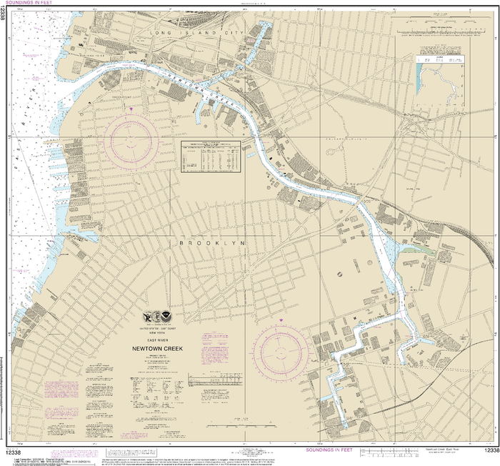 NOAA Nautical Chart 12338: East River Newtown Creek