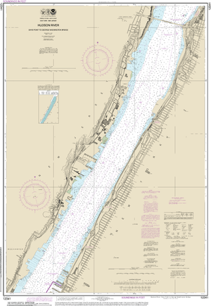 NOAA Nautical Chart 12341: Hudson River Days Point to George Washington Bridge