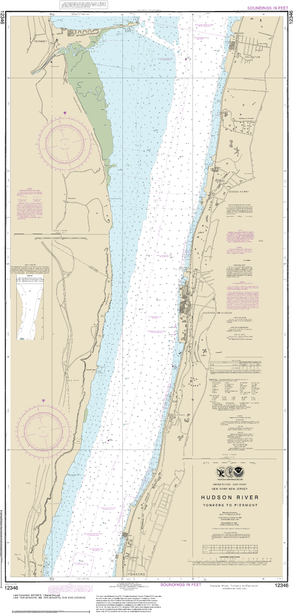 NOAA Nautical Chart 12346: Hudson River Yonkers to Piermont