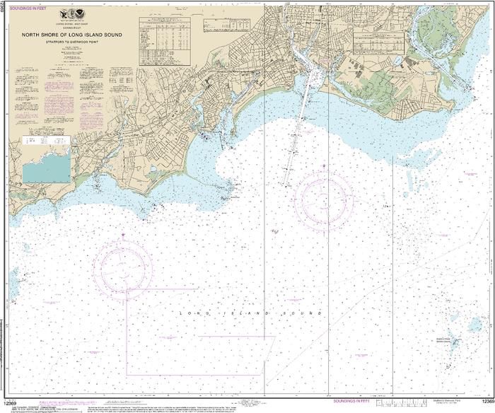 NOAA Nautical Chart 12369: North Shore of Long Island Sound Stratford to Sherwood Point