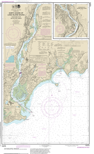 NOAA Nautical Chart 12370: North Shore of Long Island Sound Housatonic River and Milford Harbor