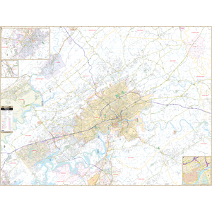Knoxville, Tn Wall Map - Large Laminated