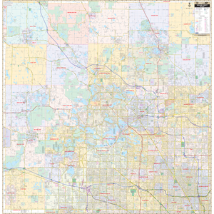 Oakland Co, Mi Wall Map - Large Laminated