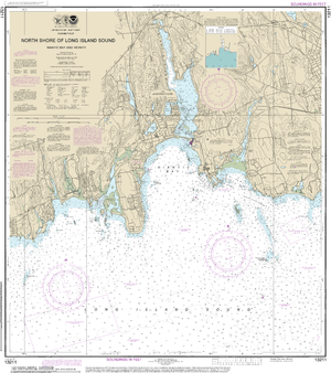 NOAA Nautical Chart 13211: North Shore of Long Island Sound Niantic Bay and Vicinity