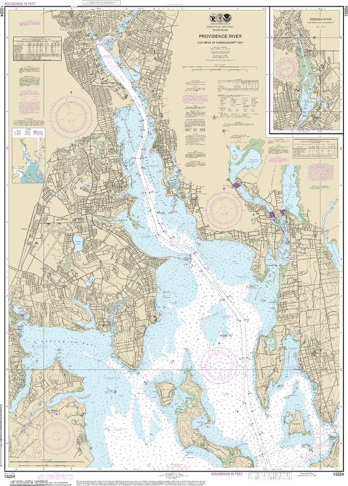 NOAA Nautical Chart 13224: Providence River and Head of Narragansett Bay
