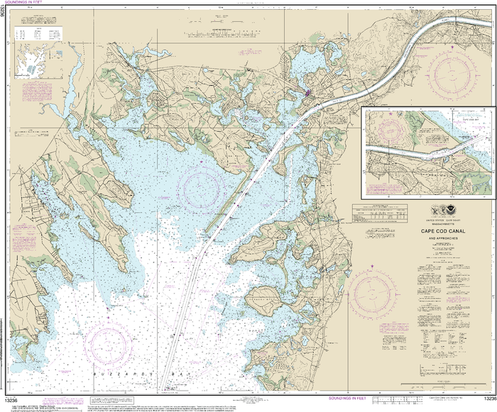 NOAA Nautical Chart 13236: Cape Cod Canal and Approaches